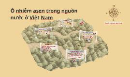 Ô nhiễm asen trong nguồn nước ở Việt Nam