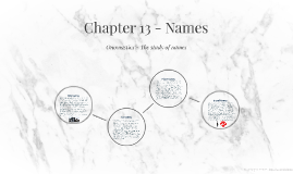 Chapter 13 - Names