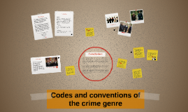 Codes and Conventions of the crime genre