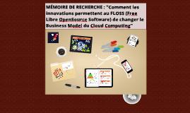 Soutenance Mémoire (FLOSS & Cloud) INSEEC