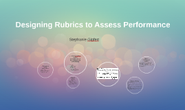 Designing Rubrics to Assess Performance