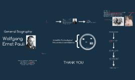 Seminar Assignment: Wolfgang Pauli