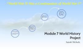 Module 7 World History Project