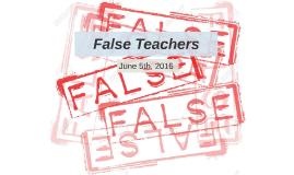 False Teachers