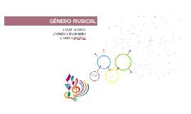 GÉNERO MUSICAL