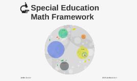 Special Education Math Framework