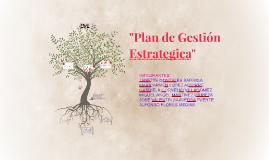 Plan de gestión estrategica