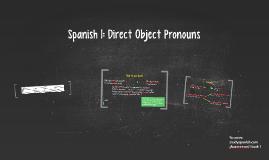 Spanish-Direct Object Pronouns