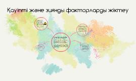 Copy of Қауіпті және зиянды факторларды жіктеу
