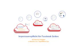 Impressumspflicht Facebook