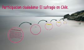 Participacion cuidadana: El sufragio en Chile.