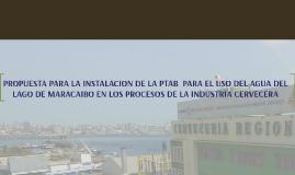 PROPUESTA CREACIÓN DE UNA PLANTA PARA EL USO DEL AGUA DEL LA