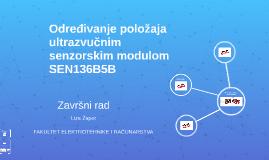 Određivanje položaja ultrazvučnim senzorskim modulom SEN136B