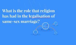 What is the role that religion has had in the legalisation of same-sex marriage?