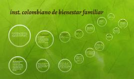 ins. colombiano de bienestar familiar