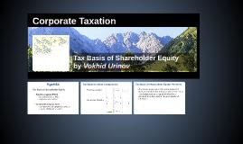 Class 9_Tax Basis of Shareholder Equity