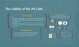 Verifying the 2% Club