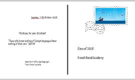 Les Langues à L'Ecole Navale (2016)