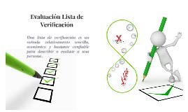 Copy of Evaluacion Lista de Verificacion