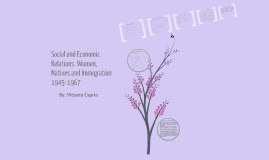 Social and Economic Relations (Women, Natives, Immigration).