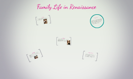 Family Life in Renaissance