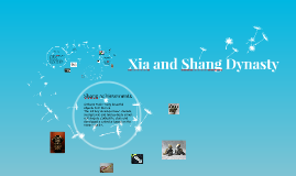 Xia and Shang Dynasty