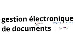 Gestion électronique de documents