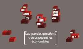 Les grandes questions que se posent les économistes
