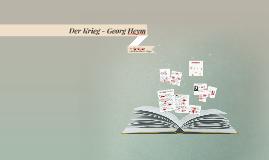 Der Krieg - Georg Heym