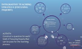 Copy of INTEGRATIVE TEACHING METHOD