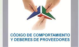 CÓDIGO COMPORTAMIENTO DE PROVEEDORES