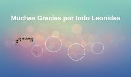 Muchas Gracias por todo Leonidas