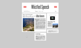 Whistled Speech