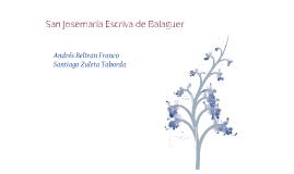 San Josemaría Escrivá De Balaguer