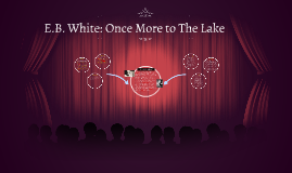 once more to the lake 'once more to the lake,' an essay written by eb white, explores the age-old relationship between a father and his growing son this.