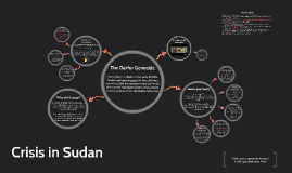 Crisis in Sudan: The Darfur  Genocide