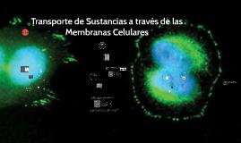 Transporte de sustancias a través de las Membranas