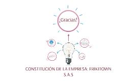 CONSTITUCIÓN DE LA EMPRESA: FRIKITOWN S.A.S