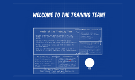 Copy of Welcome To The Training Team!