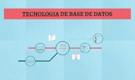 TECNOLOGIA DE BASE DE DATOS
