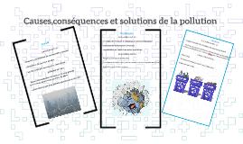 Causes,conséquences et solutions de la pollution
