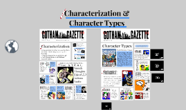 Copy of Character/ization and Types (4A)