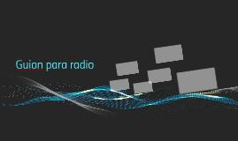 Guion para radio