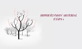 HIPERTENSION ARTERIAL ETAPA 1