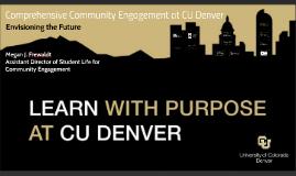 Community Engagement at CU-Denver