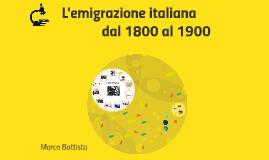Copia di L'emigrazione italiana