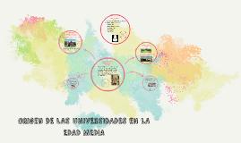 ORÍGENES DE LAS UNIVERSIDADES EN LA EDAD MEDIA