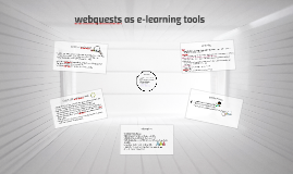 webquests as e-learning tools