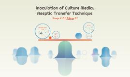 Inoculation of Culture Media