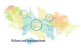 Values and Assumptions